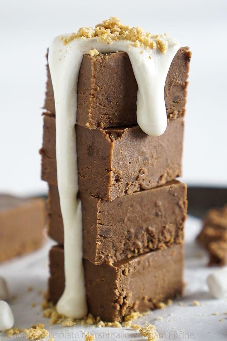 Fudge Recipe Chocolate Chips Marshmallow Cream