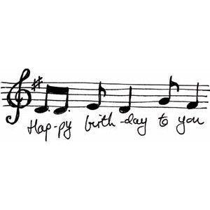 Happy Birthday Music Notes