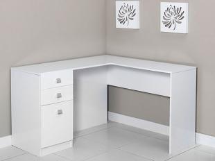 Mesa para Computador/Escrivaninha Canto Extrema - 1 Porta 2 Gavetas - Somopar…