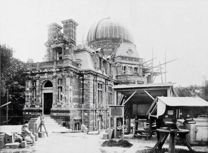 The Royal observatory under construction, Greenwich. 1890