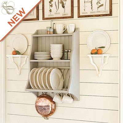 Don\u0027t hide your tableware show it off in this hanging plate rack.  sc 1 st  Pinterest & 20 best Kitchen wall cupboard images on Pinterest | Dish racks ...