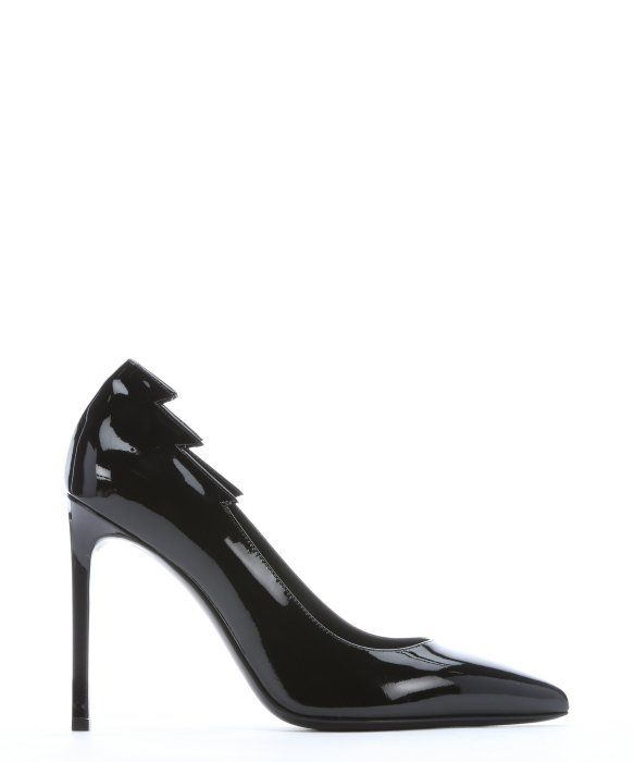 Love these shoes by SAINT LAURENT Black Patent Leather Lightning Shape Pointed Toe Pumps - $635 (19%Off)