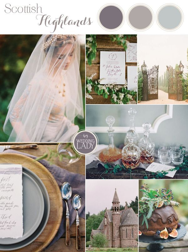 Dreamy Heather Purple Scottish Highlands Inspiration for an Outlander Wedding
