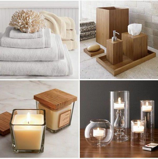 accessoires de salle de bain ensemble daccessoires en bambou - Salle De Bain Accessoire