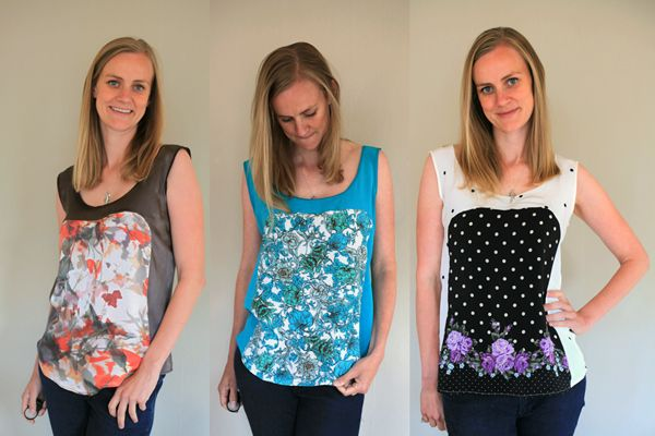 Silk Summer Tanks Times Three: Adventures in Polly Tops
