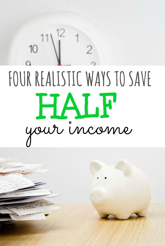 If you're wanting to increase your financial security here are four realistic ways to save half of your income.