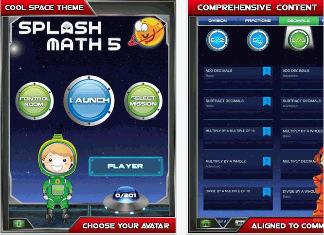 App Review 5th Grade Math Splash Math Worksheets 1 2 3 4 Tell
