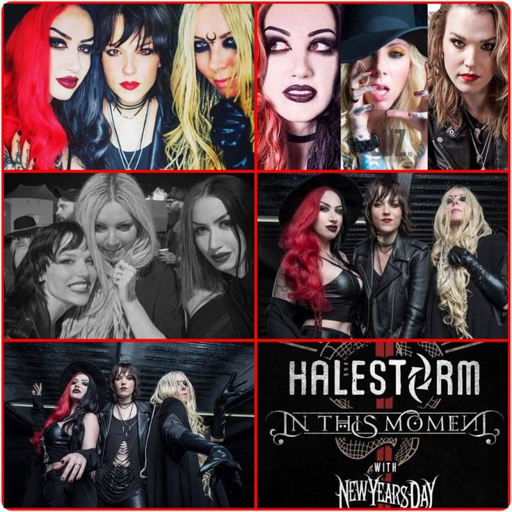 Lzzy Hale Halestorm Ash Costello New Years Day Maria Brink