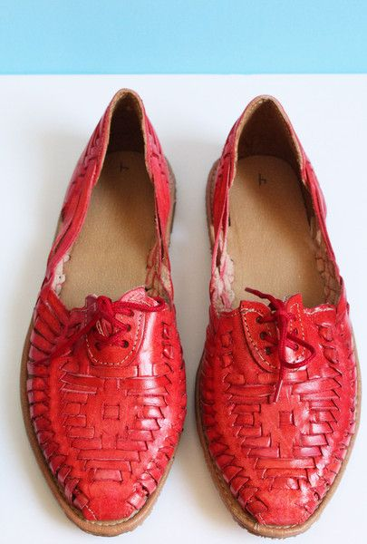 Hancrafted Red Leather Sandals - Summer Outfit - Available at azucarmaria.com