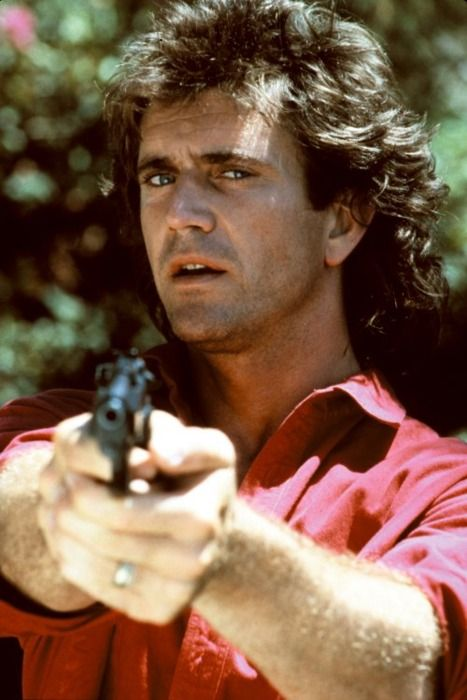 Mel Gibson as Martin Riggs in Lethal Weapon, 1987.
