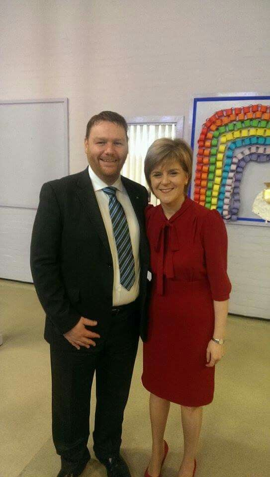 Campaigning with Nicola Sturgeon in Loanhead