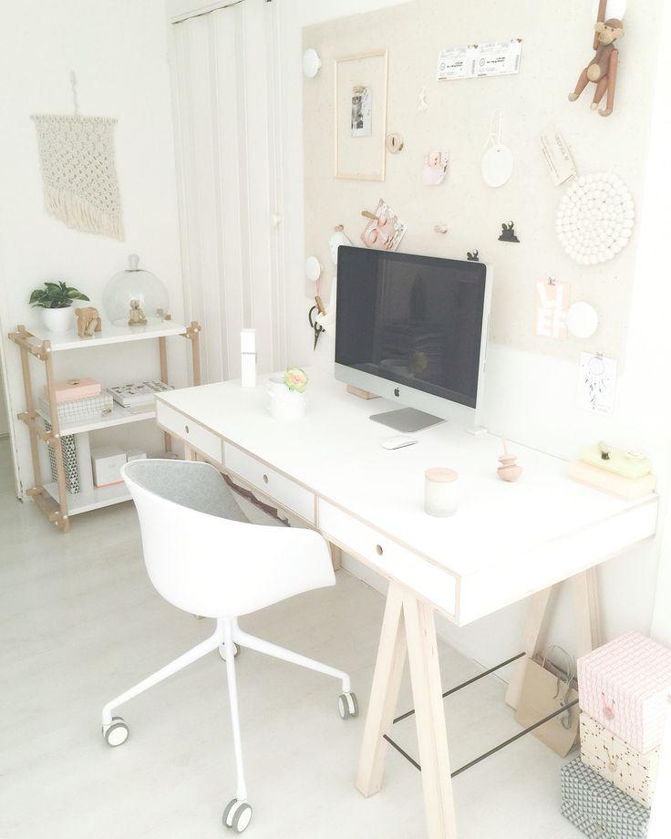 Workspace Pastel Shades · PastelltöneBüro EingerichtetSchwimmschalter Schreibtische