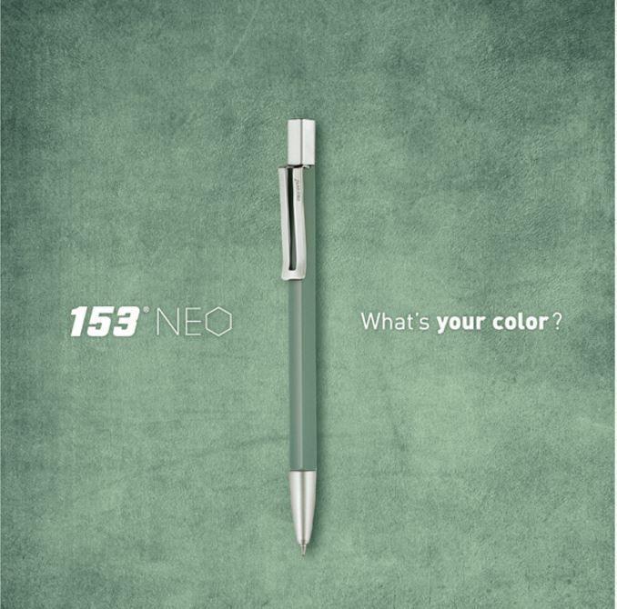Korea Brand MONAMI 153 NEO Vintage Green Ball Point Pen Body 0.7mm Ink-Black #Monami