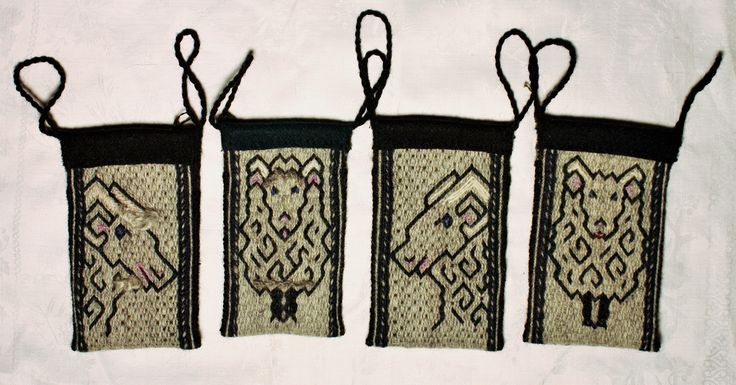 Tablet woven mobile cases, pattern by Louise Ström