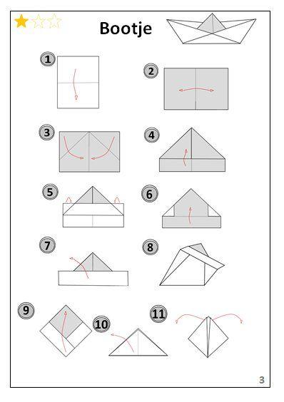 Bootje   Origami-vouwen.jouwweb.be