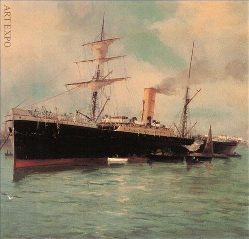 """""""Αραγμένο καράβι"""", Βολανάκης."""