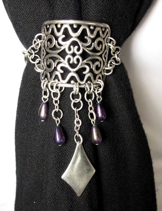 ***CLEARANCE--50% OFF--Scarf Clip with Iridescent by byBrendaElaine, $8.00
