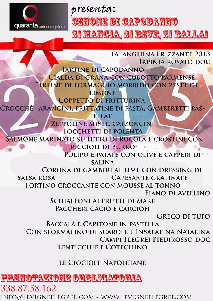 Capodanno 2014 - Cantine Terranera - Tel 0825.671455  Cell 338 875 8162 info@cantineterranera.it