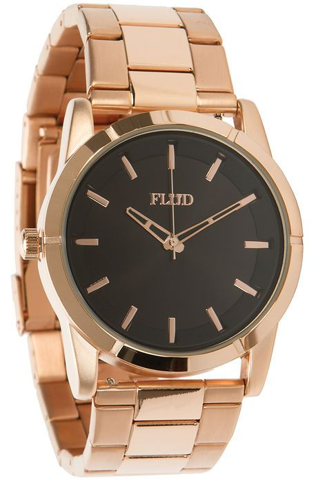 Flud Watches The Moment Watch in Rose Gold Linked
