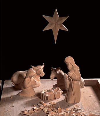 Instructions and patterns for DIY carving/whittling your own beautiful nativity set for Christmas. Make it as simple or as intricate as you wish.