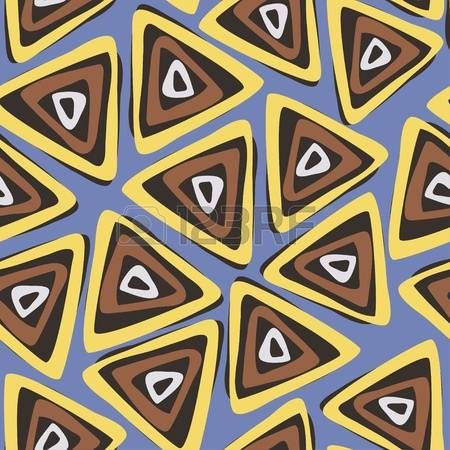 seamless pattern. Brown modern geometrical abstract background.