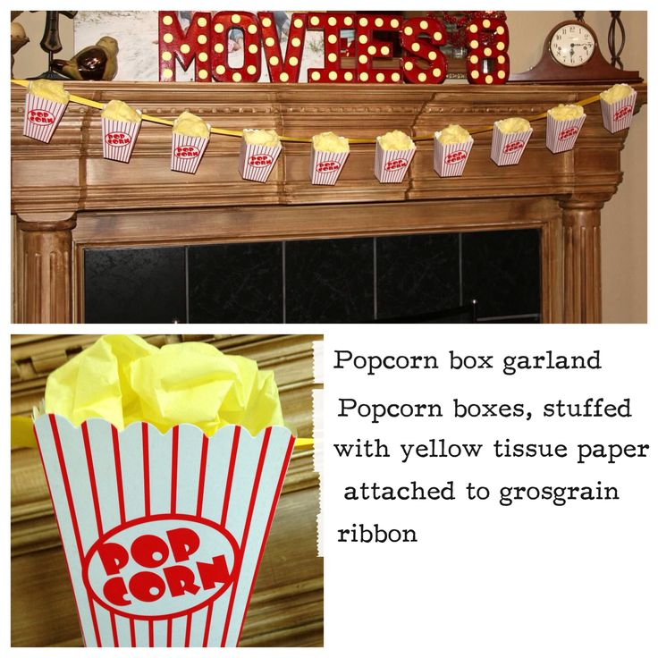 Movie party decoration-just image