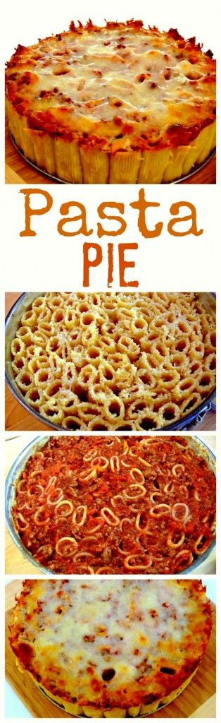 incredible pasta pasta pie meal recipes pasta recipes recipes to cook ...