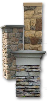 stone driveway columns | Brick column, Stone column, Faux brick and stone