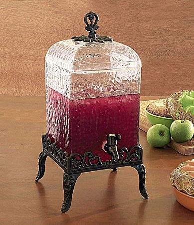 Artimino Venetian Hammered Glass Drink Dispenser #Dillards & 7 best Tuscan Dinnerware images on Pinterest | Dillards Dish sets ...