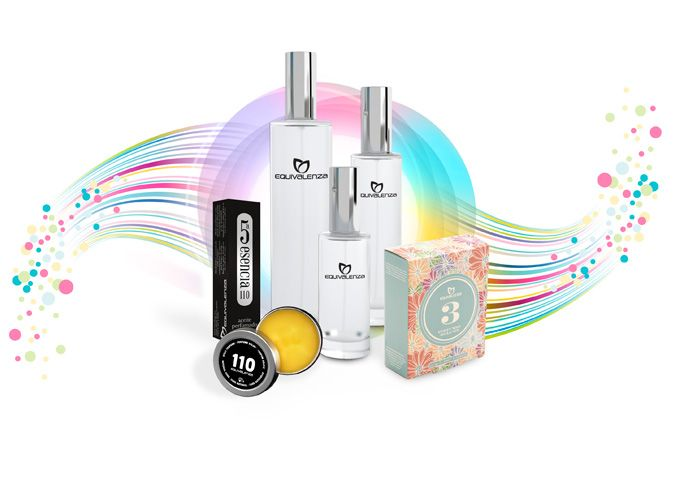 Equivalenza perfume with over 150 different fragrances