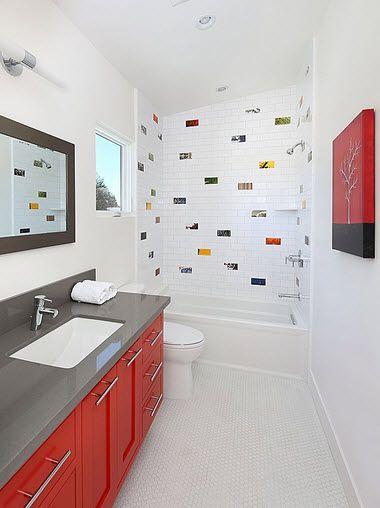 Dise o de cuarto de ba o peque os y medianos ba os for Banos modernos para espacios pequenos