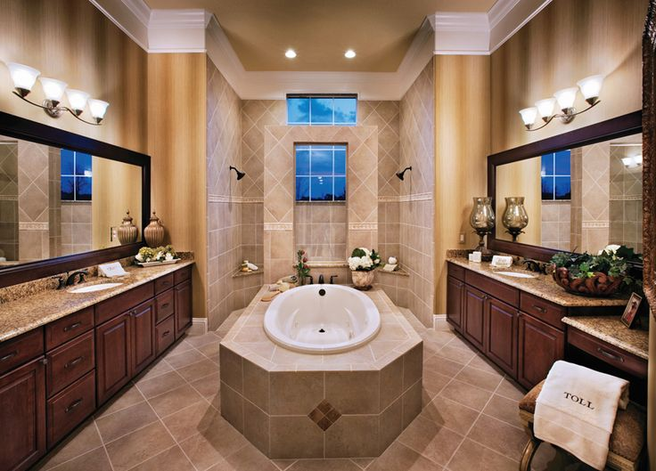 toll brothers spacious dalenna master bathroom with walk through shower - Inside Luxury Homes Bathroom