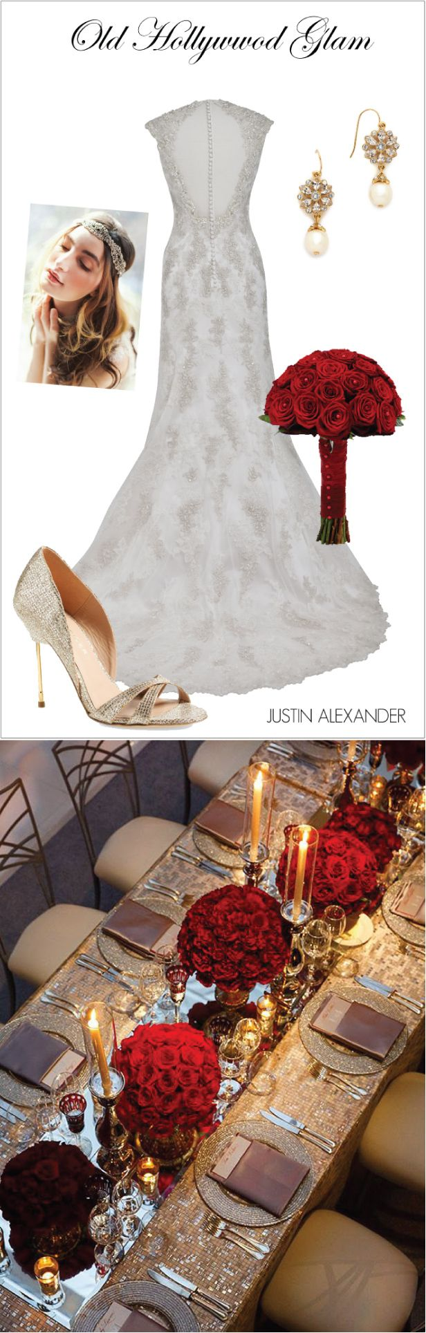 Wedding Day Look: Old Hollywood Glam ~ Brought to you by @jabridal