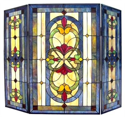 80 best Stained Glass Fire Screens images on Pinterest | Fireplace ...