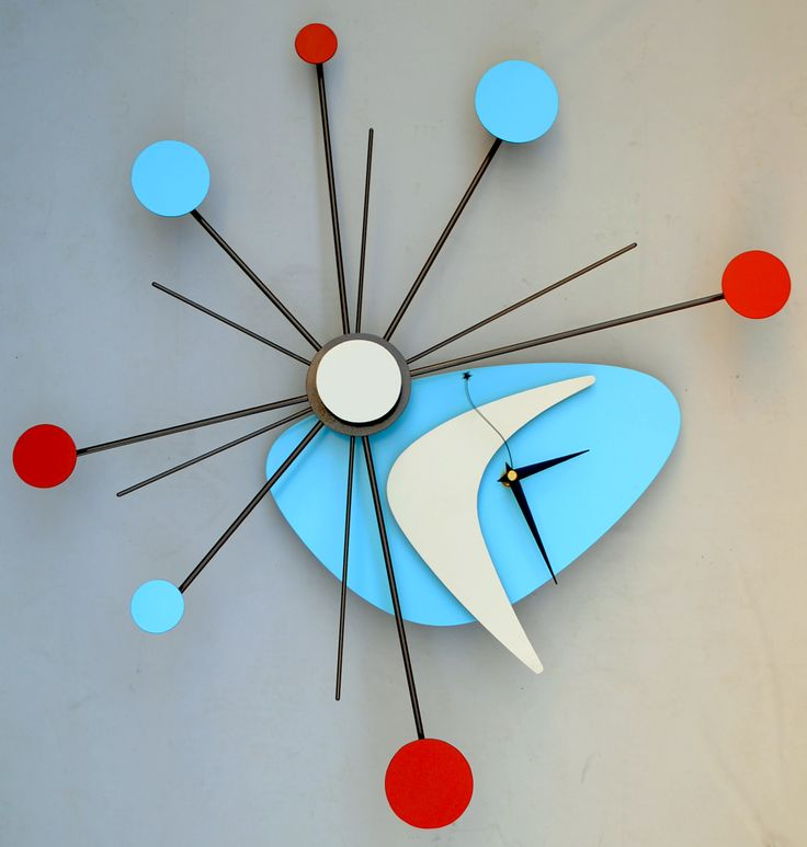 Atomic Age Style Starburst Wall Clock by Steve Cambronne More