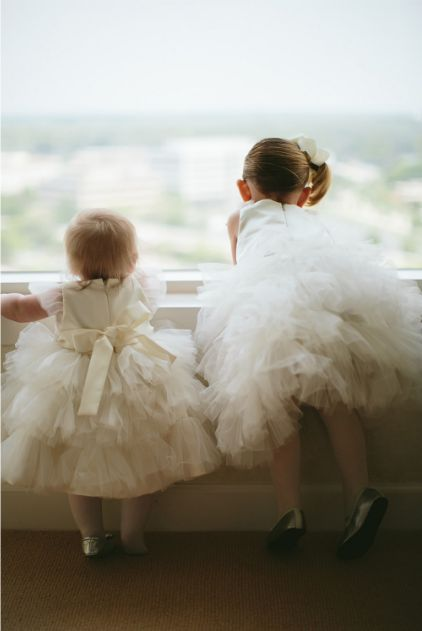 super cute flower girls in tulle lovely captured by Jordan Quinn Photography http://jordanquinnphoto.com/  Got to have a pic like this of our girls x