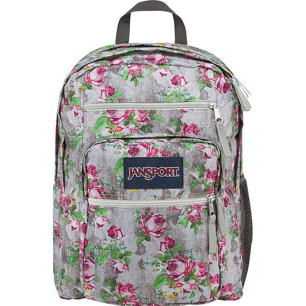 Jansport Big Student Backpack ($46) ❤ liked on Polyvore featuring bags, backpacks, grey, jansport bags, day pack backpack, grey bag, jansport rucksack and rucksack bag