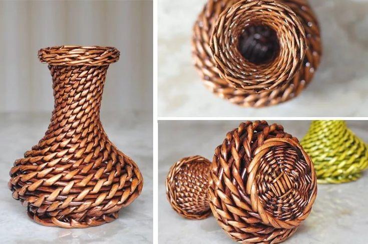 плетение из газетных трубочек новые идеи: 11 тыс ...