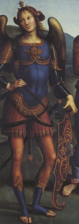 Pietro Perugino - Madonna in Glory with the Child and Saints, 1496 (detail)