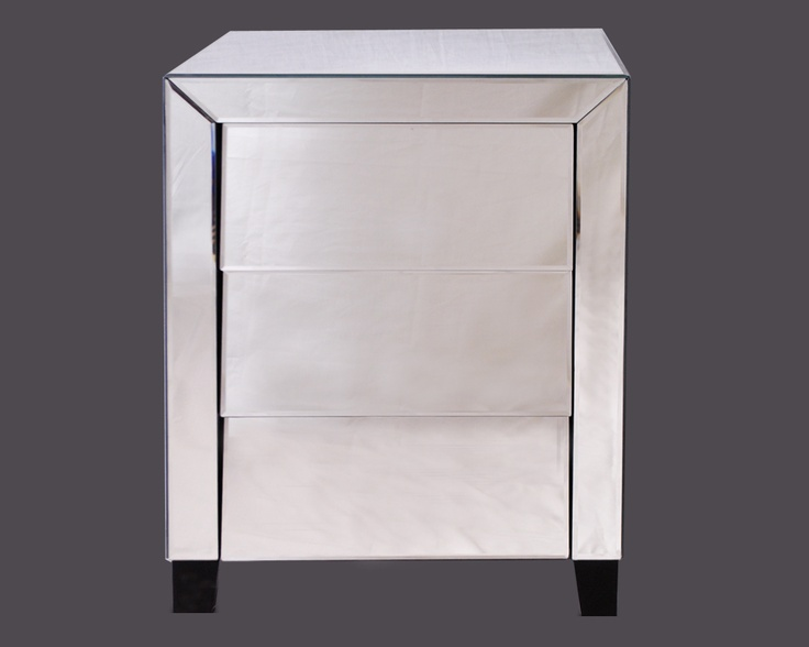 Mirrored Furniture Is A Classic Design, But Bedford Mirrored Bedside Table  Is Given A Contemporary