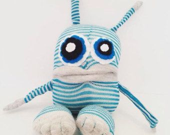 Calcetín de monstruo peluches monstruo por Iheartmonstersrocks