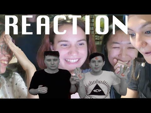 A demon, 2 casual viewers & a non-fan REACT to DanAndPhilCRAFTS Potato Prints - YouTube