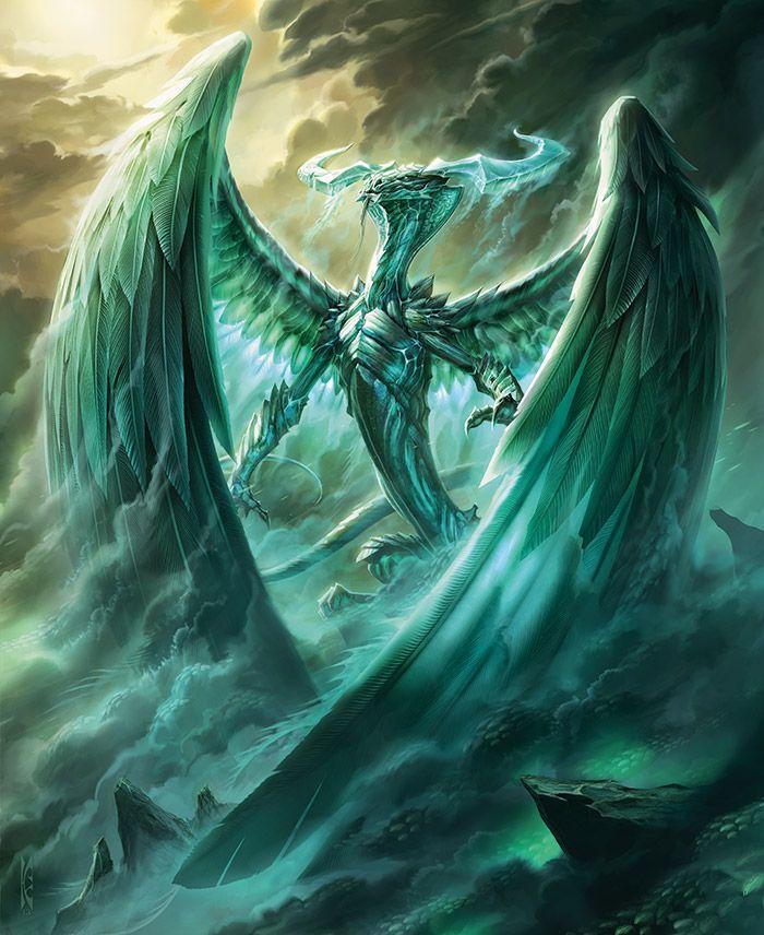 Mit  Un Dragon verde con hermosas alas emplumadas se dice que ayudo a los seres vivos asta que perdió la fe en ellos por la guerra y codicia viajo a Gaia una cordillera de colinas muy altas donde se dice que habialt  Peligro 13