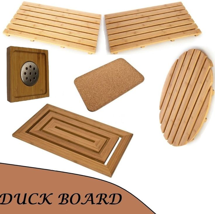 Duck Board Wooden Natural Wood Bamboo Bathroom Oval Rectangular Shower Mat  New