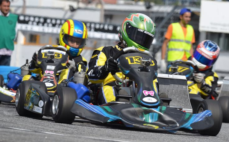 15 year old girl - Nicole Coffey, winner of 4 Karting Championships, representing Ireland in the 2012 Academy Trophy.