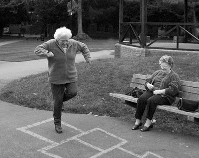 hopscotch, because you're never too old to have fun!