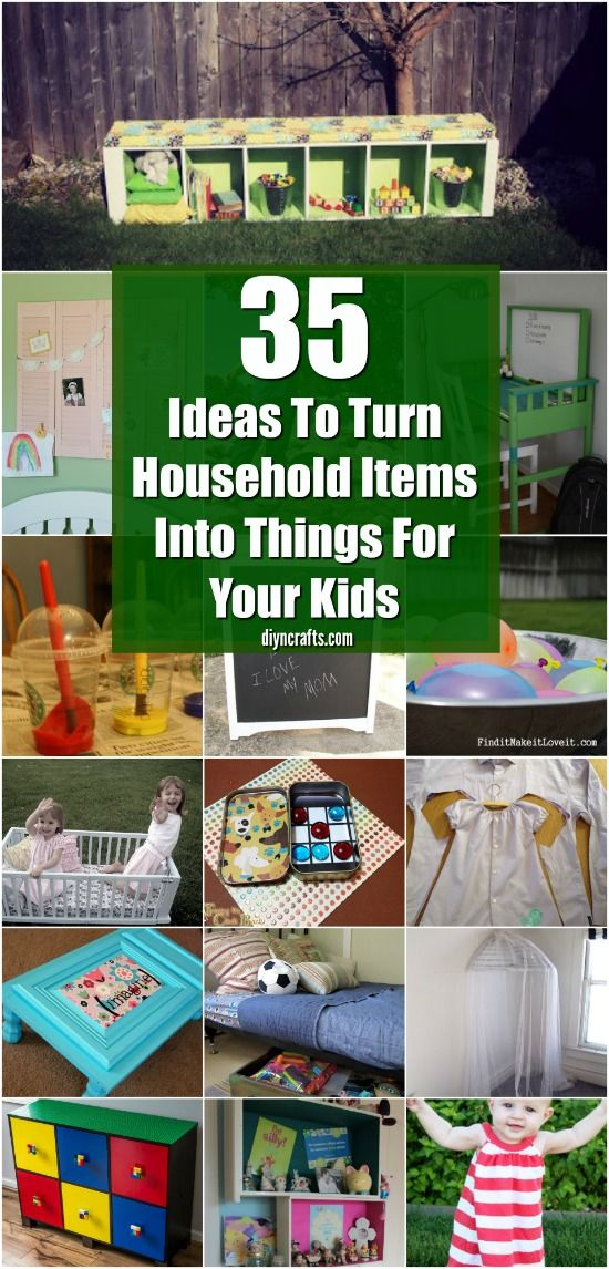 35 Projects To Turn Household Items Into Things For Your Kids - DIYnCrafts Exclusive Collection via @vanessacrafting