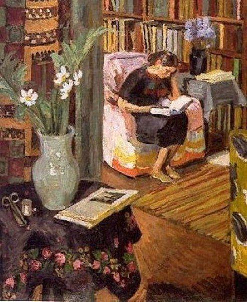 """Художница #Ванесса_Белл Маргарита Алигер  """"И опять мы с тобою остались вдвоем, Мой просторный и верный лаврушинский дом,   Полный света и памяти, грусти и книг, Где бывает, что вечностью кажется миг,  А бывает, что время летит, словно конь, Если надо, то вплавь; если надо, в огонь."""""""