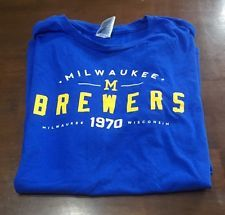 New Milwaukee Brewers T Shirt Size XL