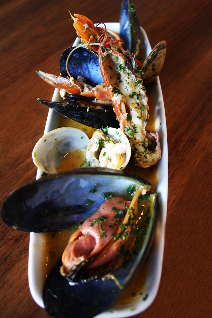 Suquet: Saffron and Prawn bisque with Mussels, Clams, Yabbies and Prawns